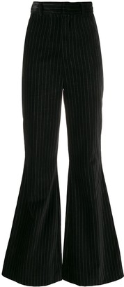 Situationist Flared Striped Trousers