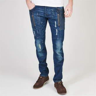883 Police Cassady Ribbed Panel Jeans