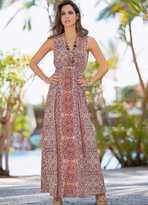 Together Print V-Neck Maxi Dress
