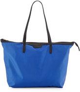 Neiman Marcus Miley Nylon Zip-Top Tote Bag, Cobalt