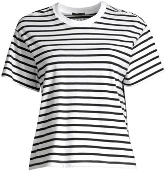 ATM Anthony Thomas Melillo Classic Jersey Striped Short Sleeve Boy Tee
