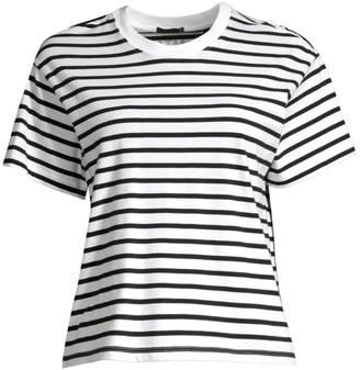 ATM Anthony Thomas Melillo Classic Jersey Striped Short Sleeve Boy Tee