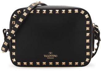 Valentino Garavani Rockstud Black Leather Cross-body Bag