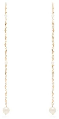 Mizuki Akoya Pearl & 14kt Gold Chain-drop Earrings - Pearl