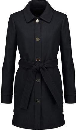 Maje Belted Wool-Blend Felt Coat