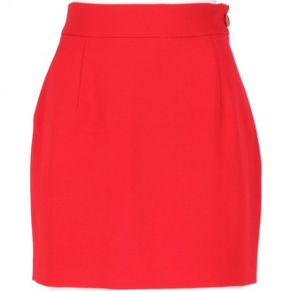 Vivienne Westwood Red Wool Skirt for Women Vintage