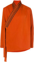 Damir Doma embroidered crossover shirt