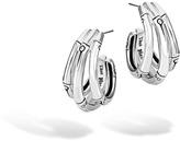 John Hardy Women's Bamboo Small J Hoop Earring in Sterling Silver