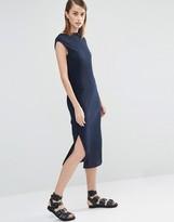 Selected Keba Stretch Pleat Midi Dress