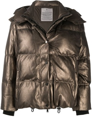 Brunello Cucinelli Metallic Sheen Puffer Jacket