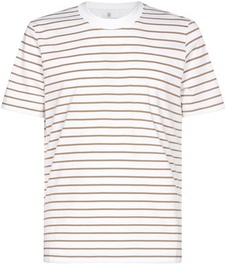 Brunello Cucinelli Striped Crewneck T-Shirt