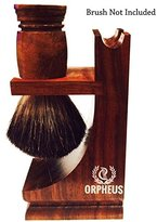 Orpheus Wooden Shave Stand for Razor and Brush (Walnut Finish)