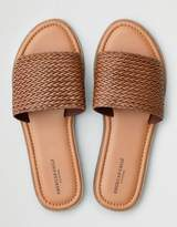 American Eagle Outfitters AE Textured Wide Band Slide Sandal