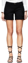 Frame Le Cut Off Short In Noir Taffs
