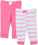 Sweet & Soft Fuchsia Stripe Joggers Set - Infant
