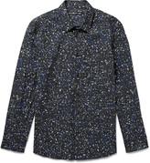 Issey Miyake Men - Printed Cotton-poplin Shirt