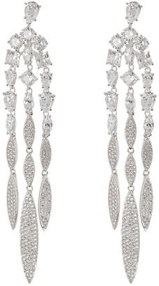 Nadri CZ Linear Fringe Earrings
