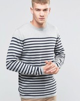 Jack and Jones Bretton Stripe Knitted Crew