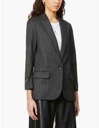 Zadig & Voltaire Viva pinstripe stretch-woven blazer