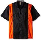 Dickies Men's Short Sleeve Two-Tone Work Shirt Big