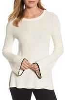 Vince Camuto Petite Women's Tipped Bell Sleeve Sweater