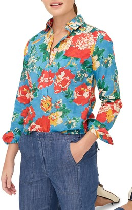 J.Crew Classic Ratti Bahama Floral Print Popover Shirt