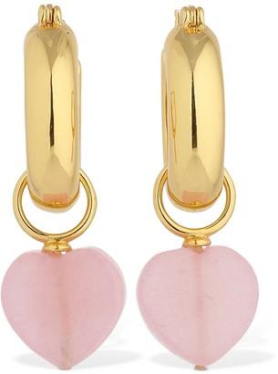 Lizzie Fortunato Lvr Exclusive Quartz Heart Earrings