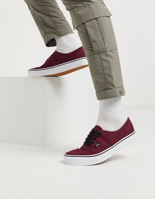 Vans Authentic sneaker in burgundy
