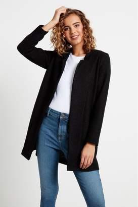 F&F Womens Black Snit Coat - Black