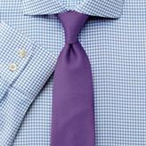Charles Tyrwhitt Classic fit non-iron spread collar basketweave check sky blue shirt