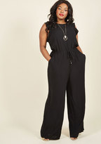 One Step to Winsome Jumpsuit in Black in XS