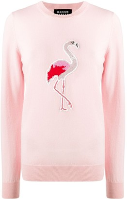 Markus Lupfer sequin Flamingo jumper