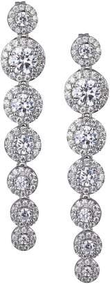 Reign PAJ-Bridal Rhodium-Plated Sterling Silver Crystal Drop Earrings