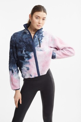 John Elliott 100% Polyester Tie Dye Polar Fleece Zip Up Jacket