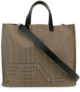 Fendi two-tone striped tote - men - Leather/Nylon - One Size