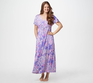 Carole Hochman Abstract Hydrangea Rayon Spandex Lounge Dress