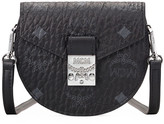 MCM Patricia Visetos Small Trifold Flap Wallet With Strap