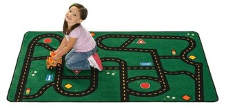 """Kids Value Rugs Go Go Driving Tufted Green Rug Rug Size: Rectangle 3' x 4'6"""""""
