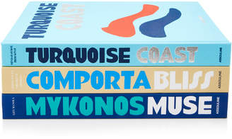 Assouline Mykonos Muse, Turquoise Coast And Comporta Bliss Hardcover B