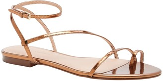 Banana Republic Metallic Strappy Flat Sandal