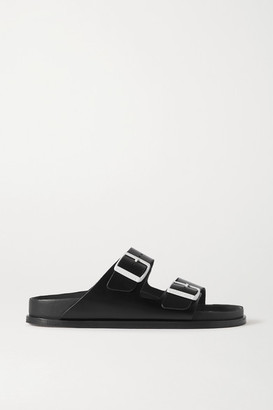 Birkenstock + Net A Porter Arizona Leather Sandals - Black
