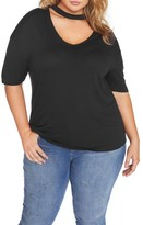 Plus Size Women's Rebel Wilson X Angels Knit Top With Neckband
