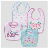 Gerber Baby Girls' 4 Pack Terry Bib Set Bunny