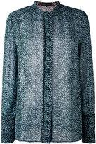 Proenza Schouler long sleeve print shirt - women - Silk - 0