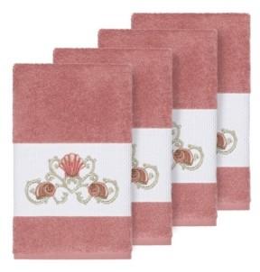 Linum Home Bella 4-Pc. Embroidered Turkish Cotton Hand Towel Set Bedding