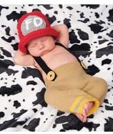 Mud Pie Infant Fireman Trousers & Hat Set