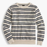 Rugged Cotton Crewneck Sweater In Multistripe