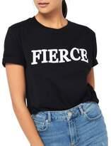 Miss Selfridge Fierce Crewneck Cotton Tee