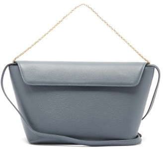 Tsatsas Olive Large Grained-leather Shoulder Bag - Light Blue