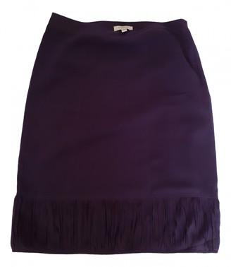 Burberry Purple Silk Skirts